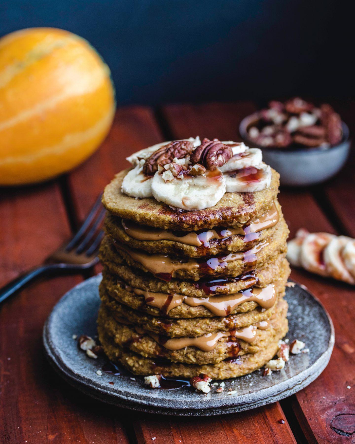 Healthy Vegan Pumpkin Pancakes
