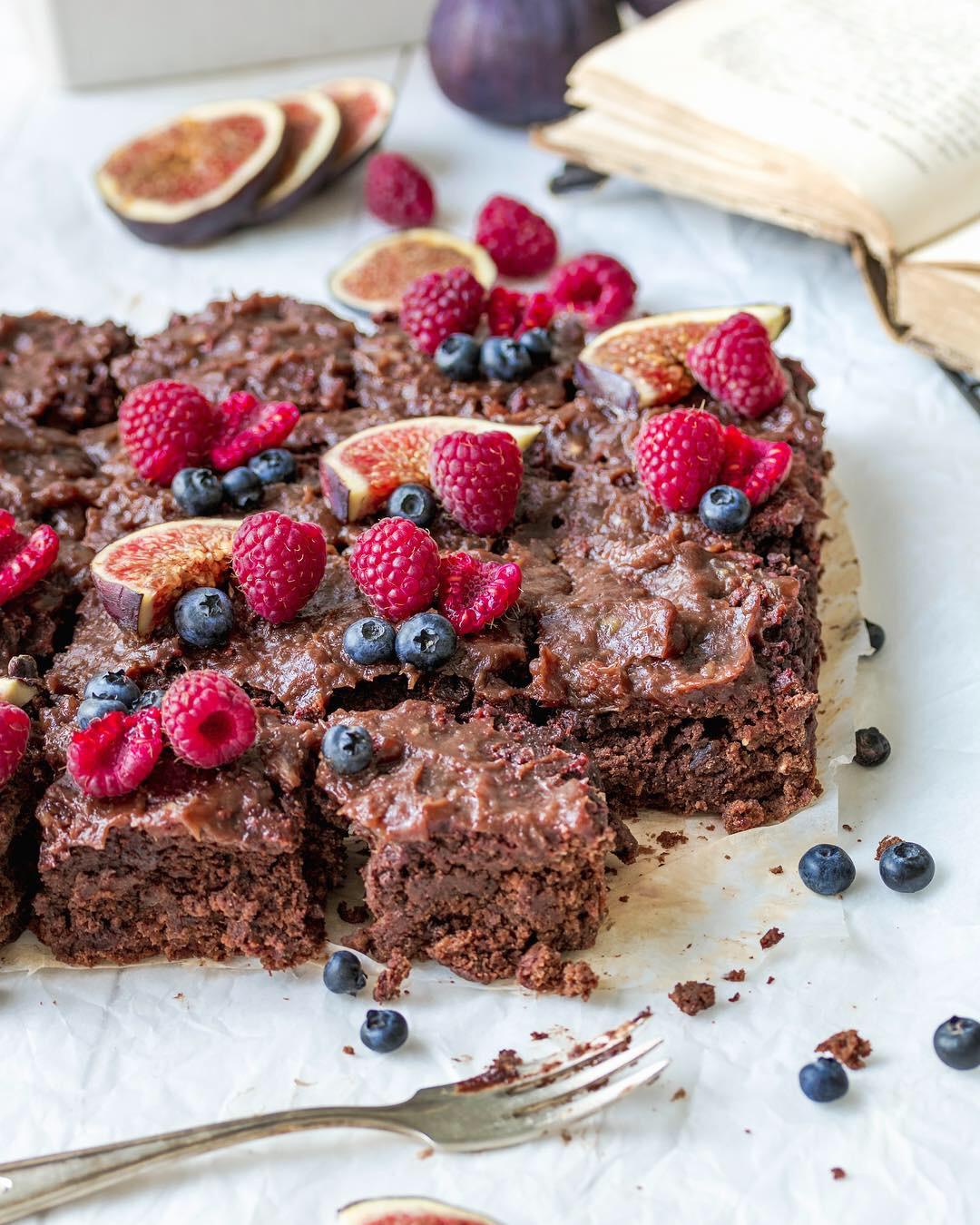 Vegán csokis céklás brownie