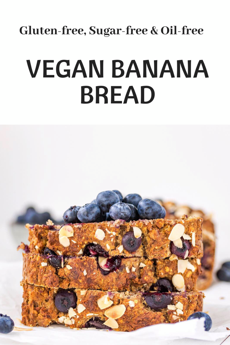 vegan banana blueberry bread
